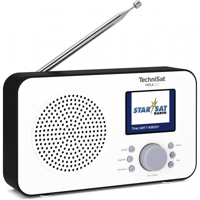 TechniSat VIOLA 2 C Tragbares DAB+/UKW-Radio, Weiß/Schwarz oder Weiß/Blau