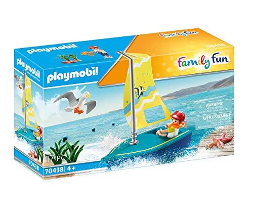 (Prime) PLAYMOBIL Family Fun 70438 Segeljolle, Schwimmfähig, Ab 4 Jahren