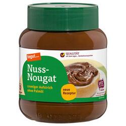 Tegut : Nuss Nougat Creme Zartbitter/ Vollmilch ohne Palmöl im 400 Gramm Glas