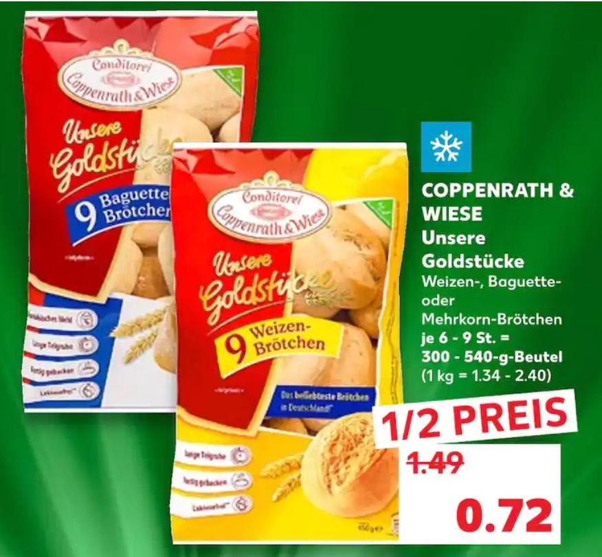Coppenrath & Wiese Brötchen versch. Sorten für 0,72€
