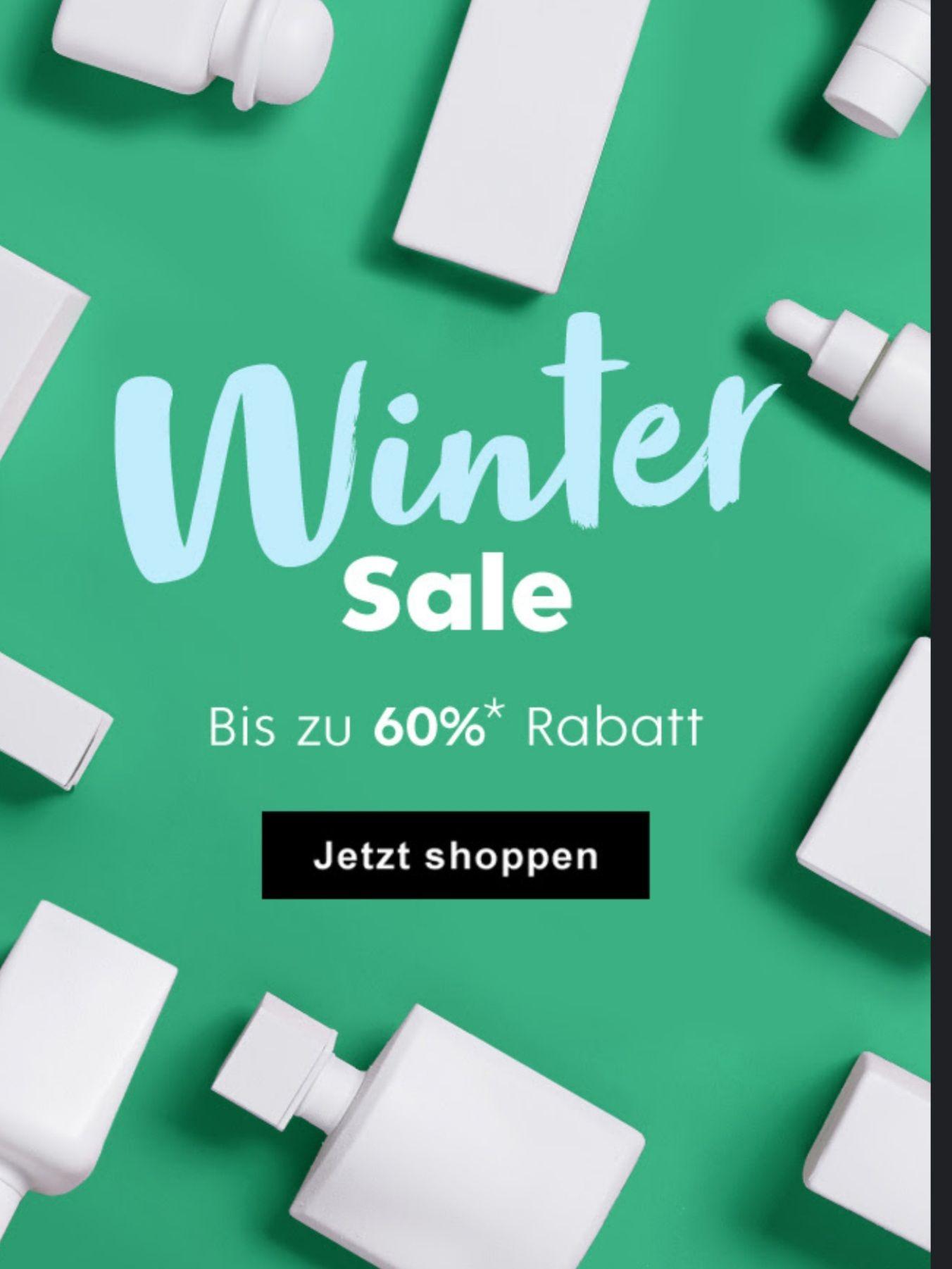 Winter Sale bei Flaconi - bis zu 60% reduziert