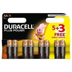 [Amazon Prime] Duracell MN1500B5+3 Plus Power Batterie AA 5 +3 Gratis Pack