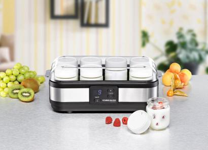 ROMMELSBACHER Joghurtbereiter JG 40 - für bis zu 1200g Joghurt, LCD Display, 18 Stunden Zeitschaltuhr, elektronische Temperaturregelung
