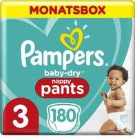 Pampers Baby Dry Pants und Pampers Premium Protection Pants in allen Größen als Monatsbox mit 33% Rabatt