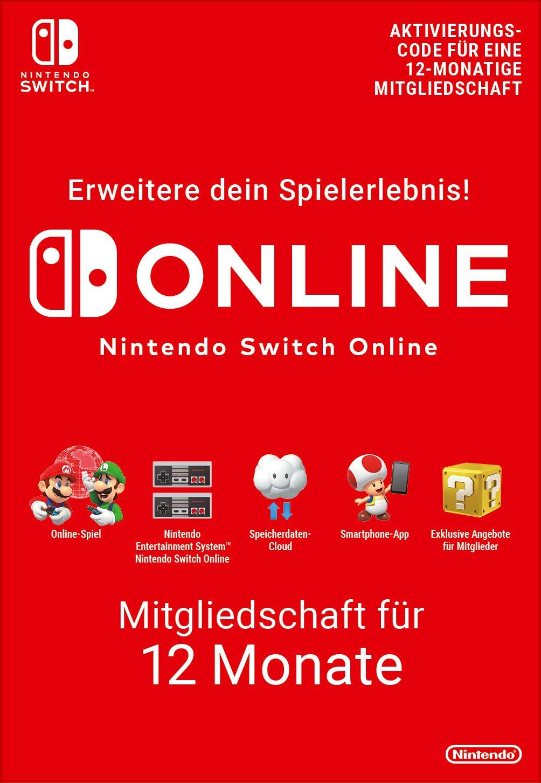 Nintendo Switch Online – Mitgliedschaft für 12 Monate (365 Tage) | alternativ Familienmitgliedschaft für 26,31€