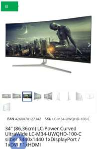 """LC-Power Curved UWQHD 34"""""""