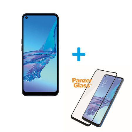 OPPO A53 - Smartphone 64GB, 4GB RAM, Dual SIM, Electric Black + Panzerglas [Expert]
