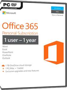 Microsoft Office 365 Personal (1 User / 1 Jahr)