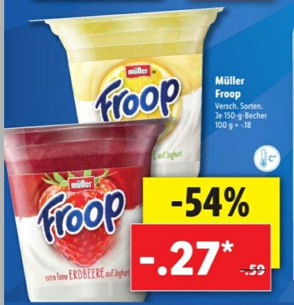 Müller Froop 54% günstiger nur 0.27€