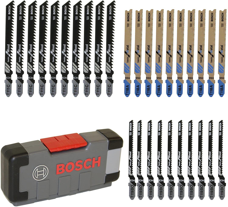 [Amazon Prime] Bosch Professional 30tlg. Stichsägeblatt Set Basic for Wood and Metal (für Holz und Metall, Zubehör Stichsäge) 2607010903