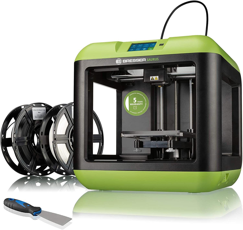 Sammeldeal Bresser 3D Drucker Saurus mit WLAN und Filament-Bundle mit offenem Gehäuse für PLA