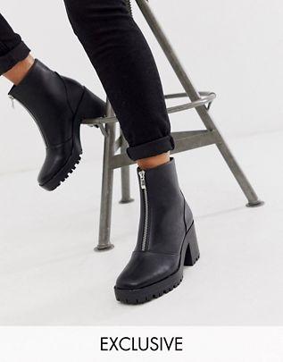 RAID - Exclusive Janella - Robuste Stiefel in Schwarz mit Reißverschluss