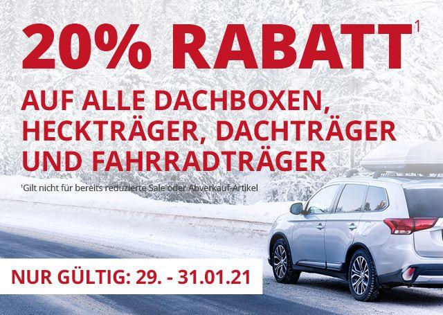 A.T.U. 20% auf alle Dachboxen (Thule, Atera, Norauto), Hechtrager, Dachträger und Fahrradträger