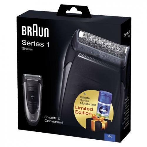 [REAL online] Braun Series 1/190 Herrenrasierer + Gilette Feuchtigkeitscreme für €24,95 (Preisvergleich ab €40)