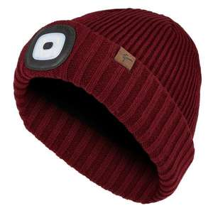 [Globetrotter] Sealskinz WATERPROOF COLD WEATHER LED ROLL CUFF BEANIE Unisex - Wasserdichte Mütze mit 4 Lumen LED, nur XXL