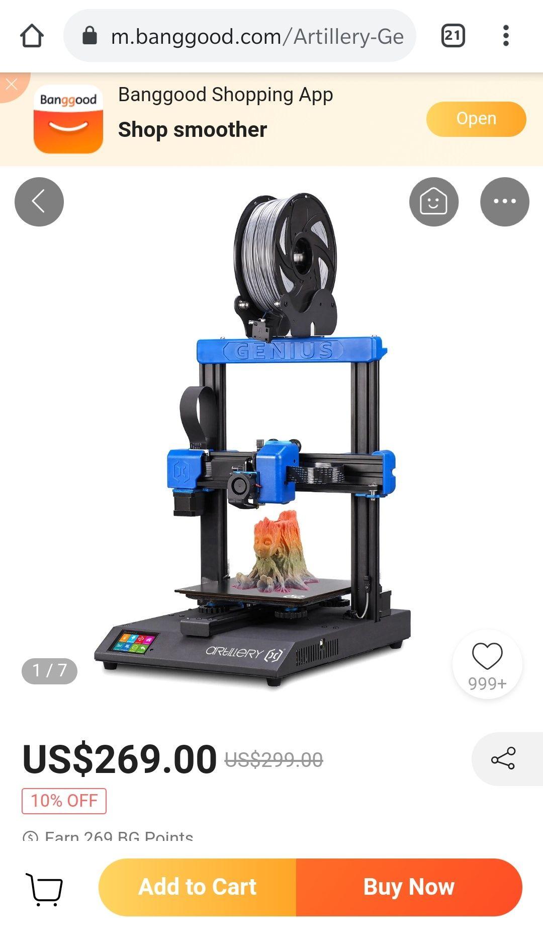 Artillery Genius 3D-Drucker - Versand aus CZ
