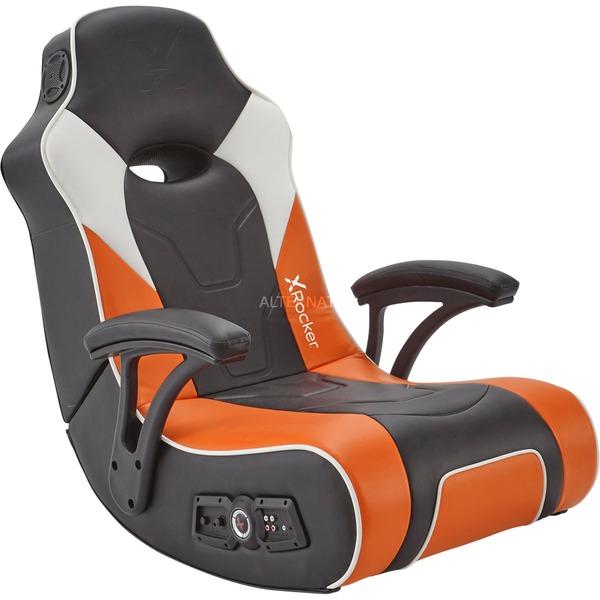 X Rocker G-Force Sport 2.1 Floor Rocker Gaming Chair (2.1 Audiosystem in Kopfstütze mit Subwoofer in der Rückenlehne, Klappbar) [ALTERNATE]