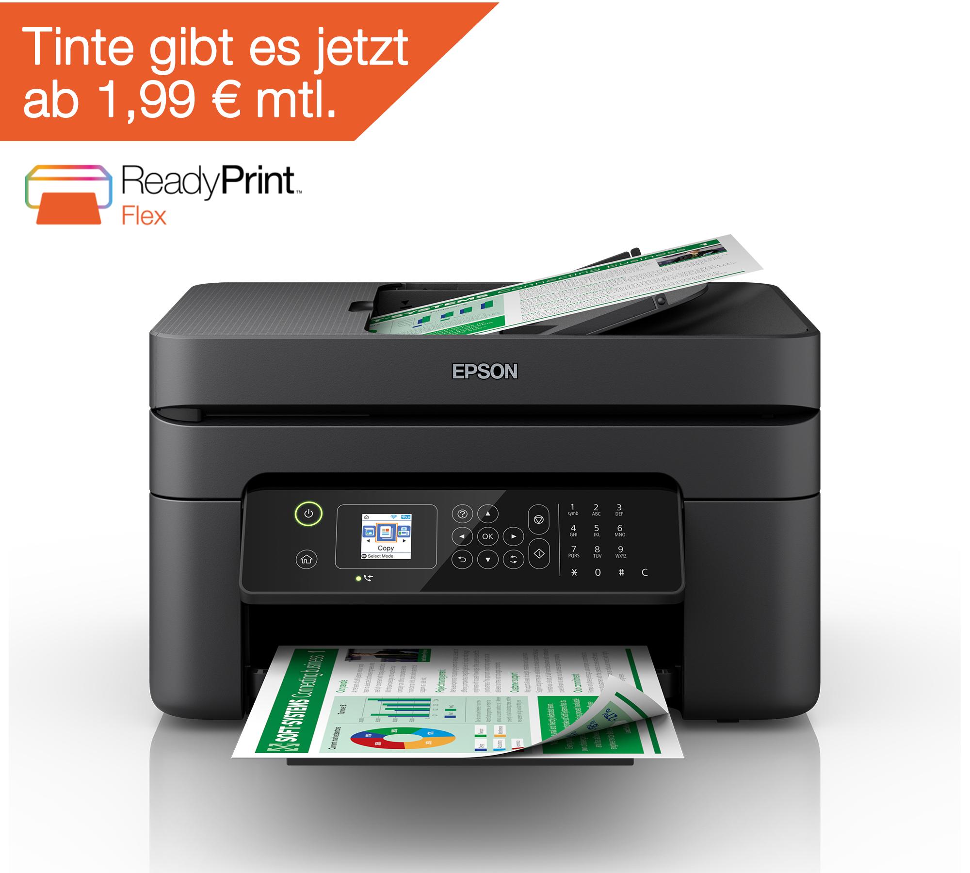 EPSON WORKFORCE WF-2830DWF 4-IN-1 Multifunktionsdrucker für 69,90€ [0815.eu]