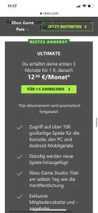 3 Monate Xbox live Ultimate (Neukunden)