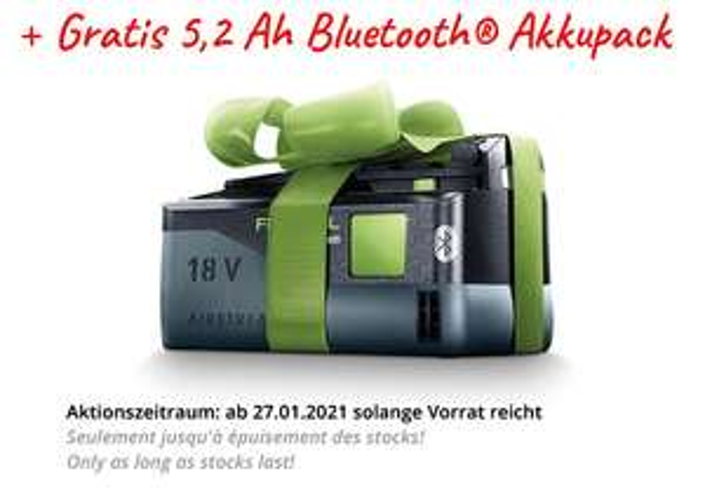 Festool Akku-Bohrschrauber C 18-Basic - 576434 + Gratis Akku
