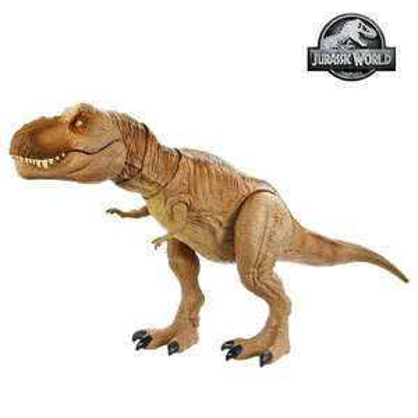 [Smythstoys/Amazon] Mattel Jurassic World brüllender Tyrannosaurus Rex, 54,6 cm lang, 3x AA/R6 Batterien enthalten