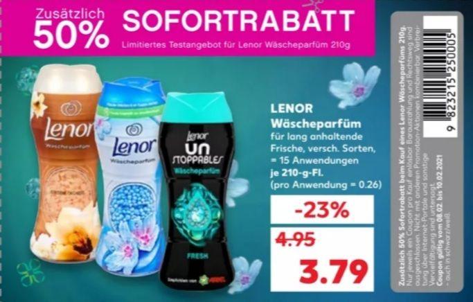 Lenor Wäscheparfüm mit -50% Coupon für 1,89€ [Kaufland]