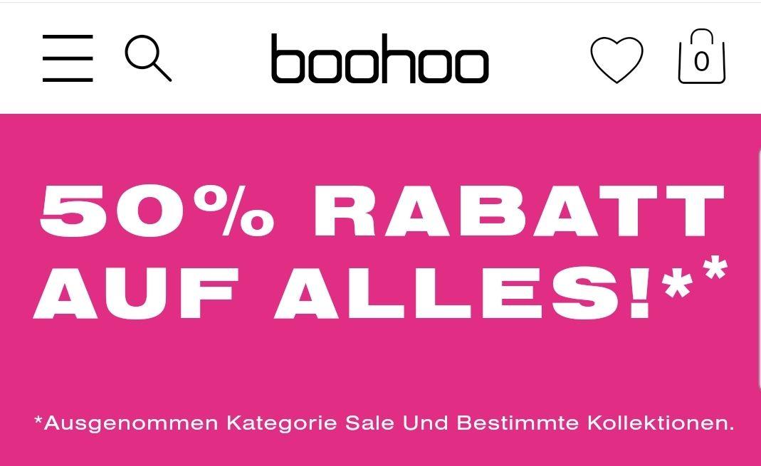 Boohoo 50% Rabatt