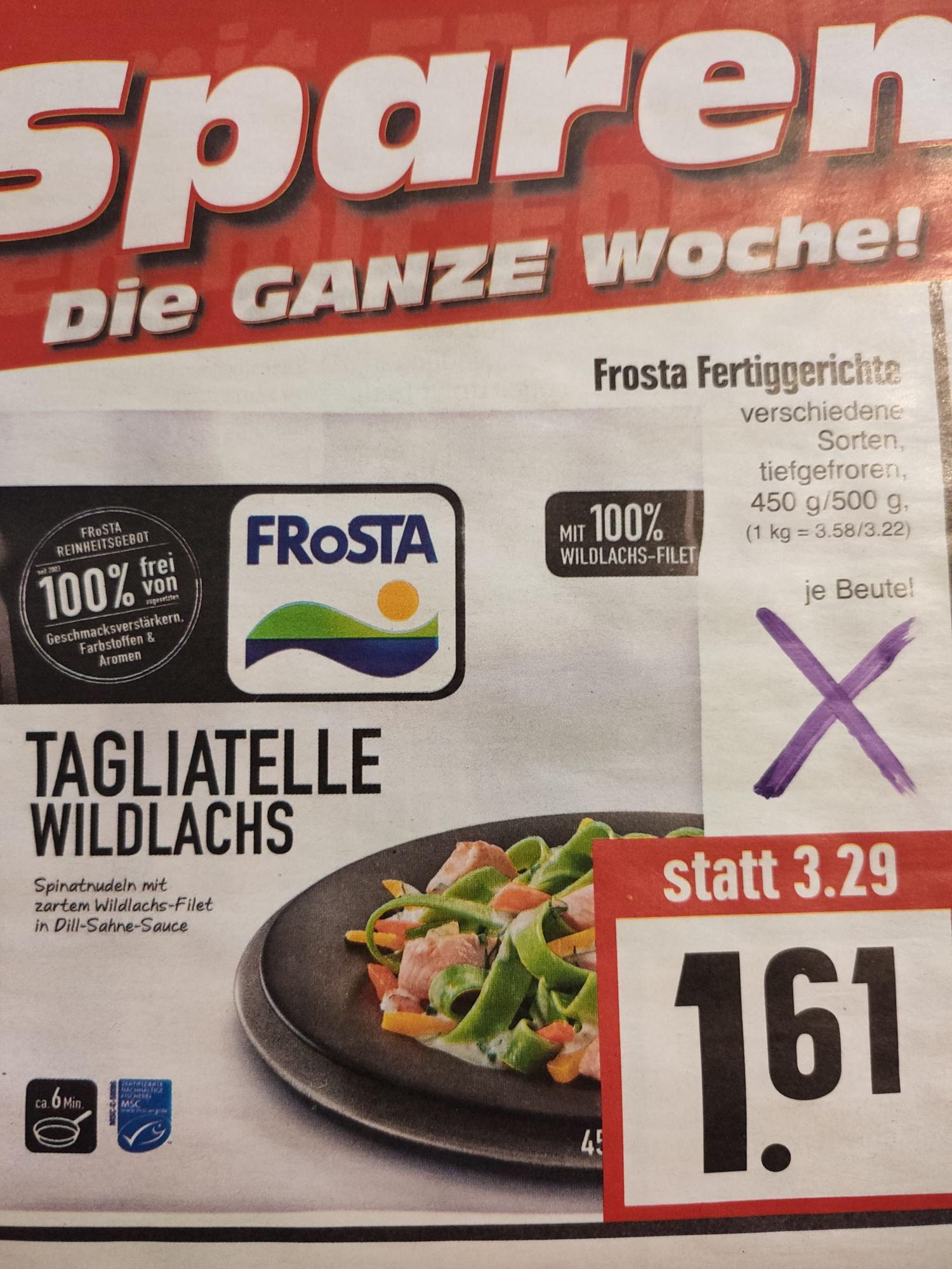 Frosta Fertiggerichte in versch. Sorten 450g-500g für 1,61€ [EDEKA Hessenring]