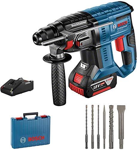 Bosch Professional Akku-Bohrhammer GBH18V-20 inkl. Zubehör,4Ah & Koffer