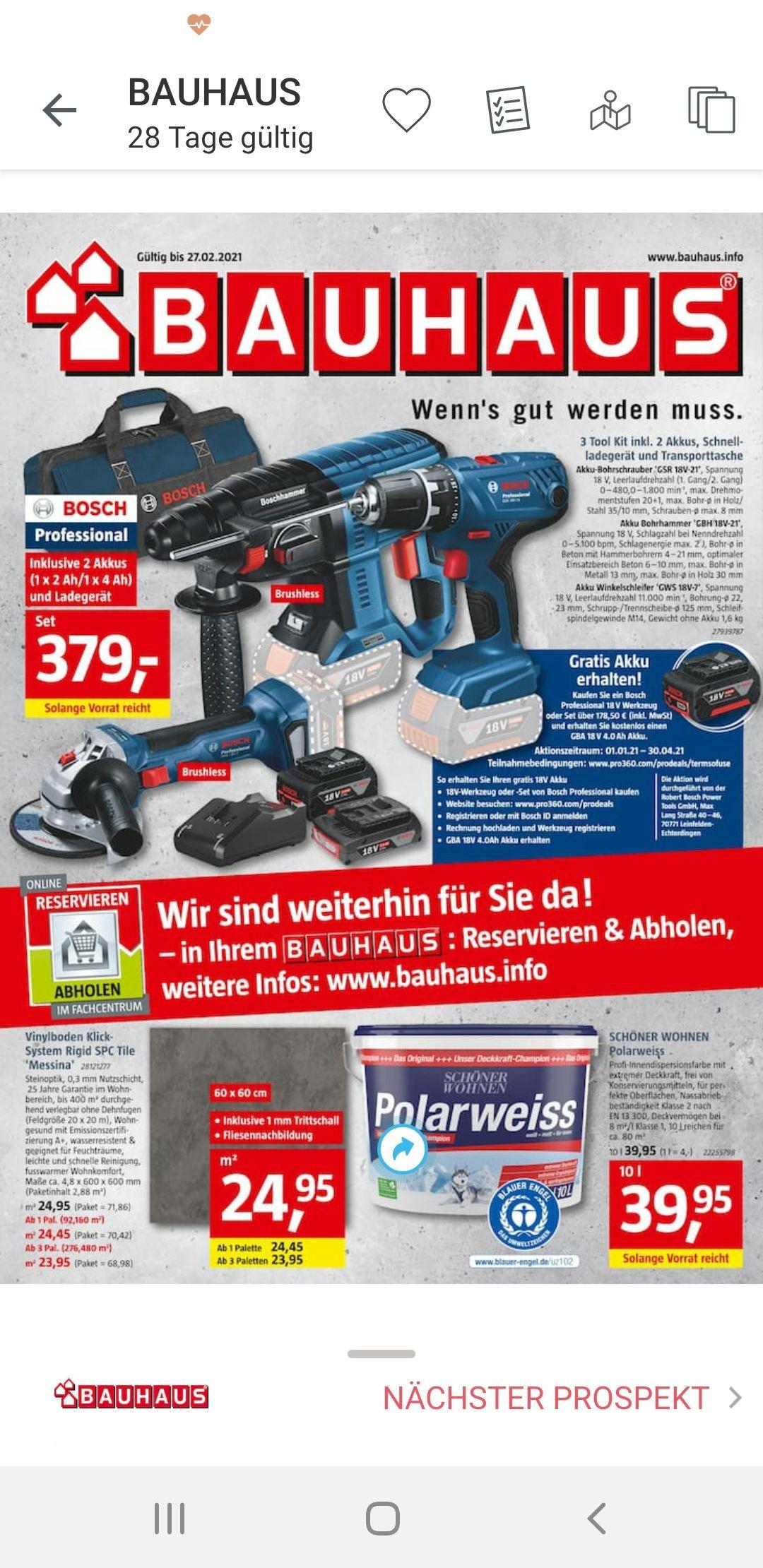 Bosch Tool Kit GSR 18V-21, GBH 18V-21GWS 18V-7,