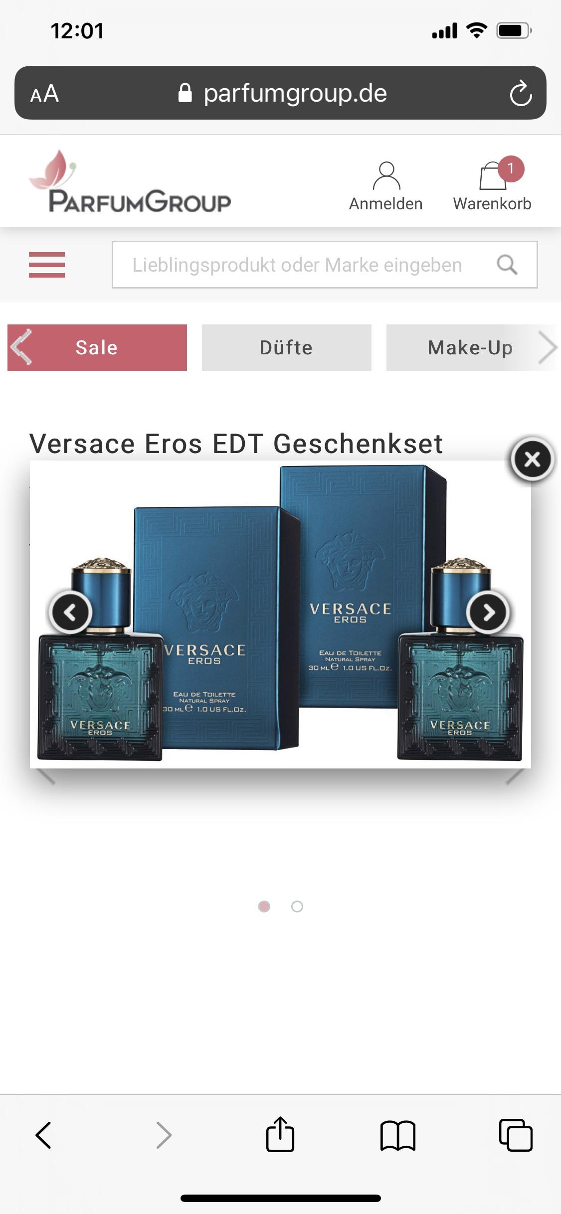 Versace Eros EDT 2x30ml