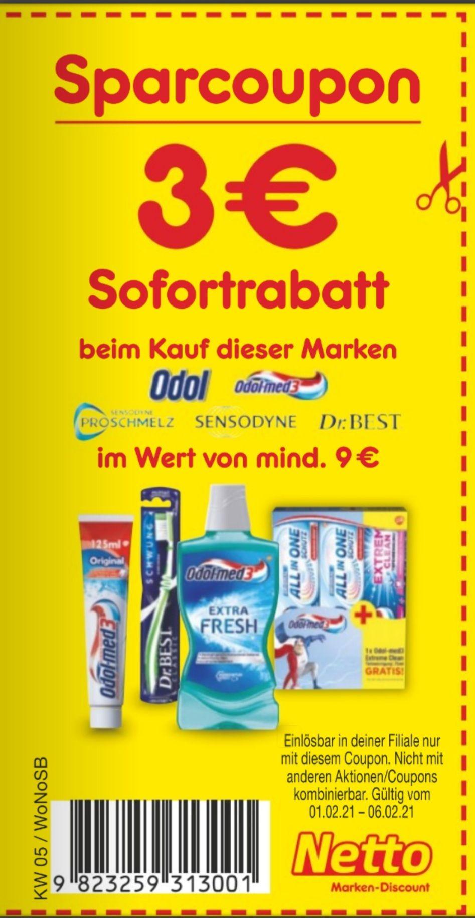 Odol Produkte von mindestens 9€ kaufen und Sofortrabatt von 3€ erhalten