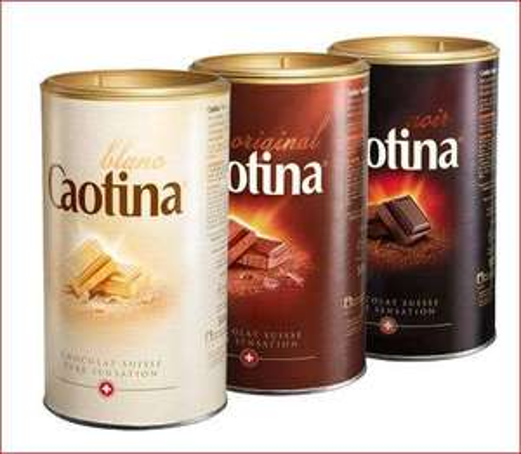 Caotina Kakao Pulver mit Schweizer Schokolade, verschiedene Sorten, die 500g Dose für 5,79 Euro [Globus]