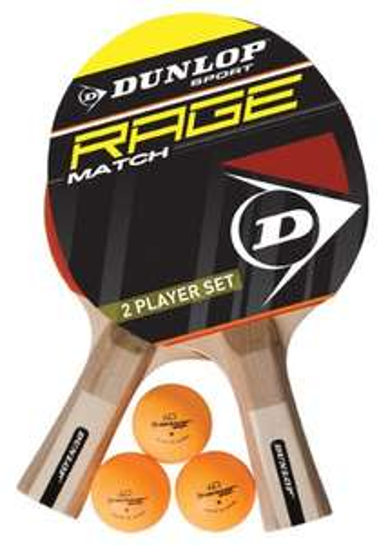 [Amazon Prime] Dunlop AC Rage Match Tischtennisschläger Set