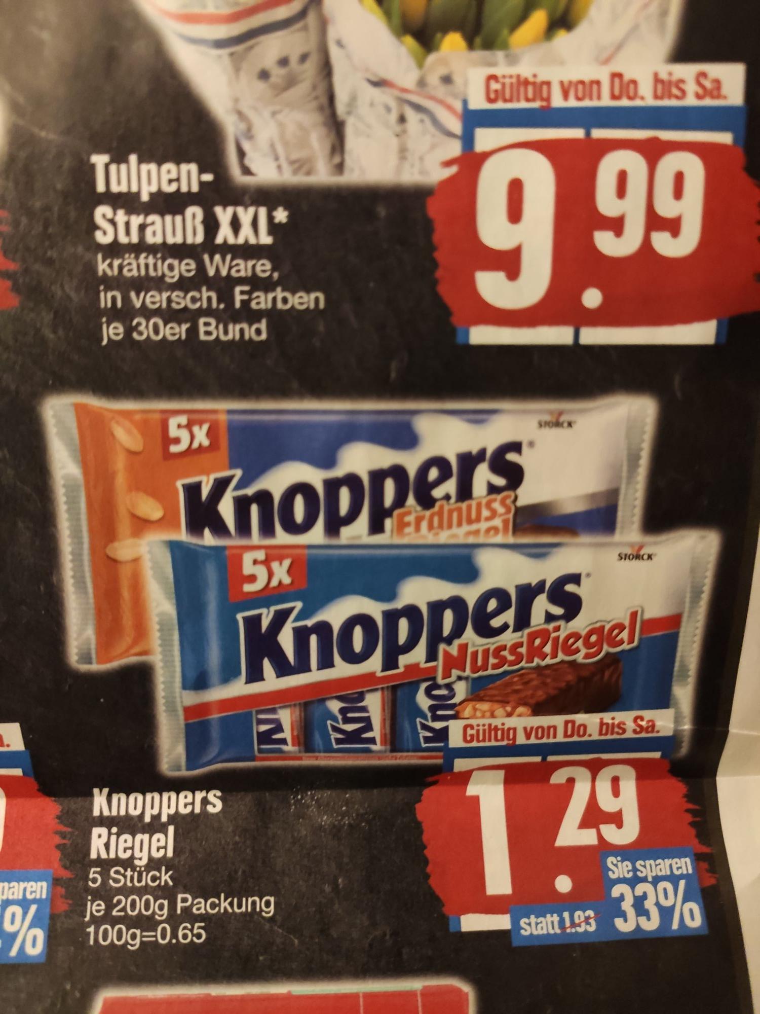 Knoppers Riegel 5St. verschiedene Sorten Edeka ab 4.2