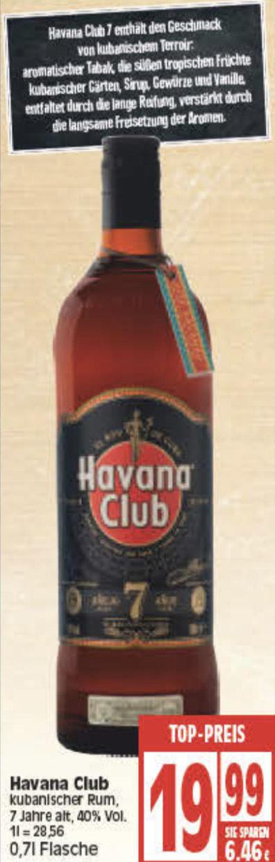 Havana Club 7 Jahre 0,7l 19,99 bei Edeka (Minden)