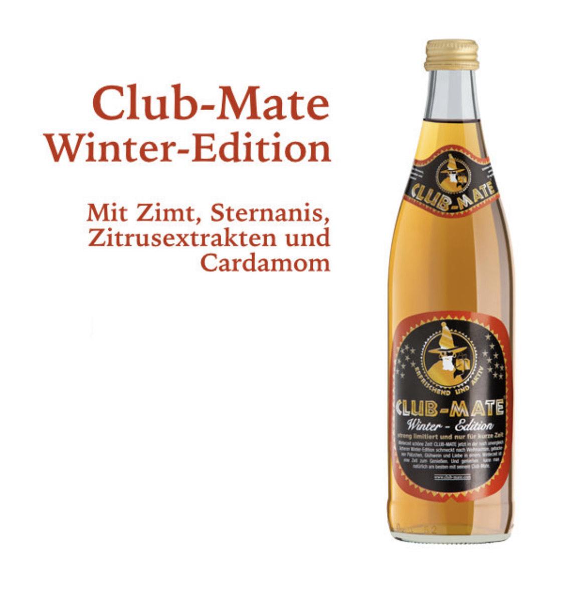 Club Mate Winteredition 10€ pro Kasten Durstexpress Ausverkauf (MBW 25€ Lokal Berlin)