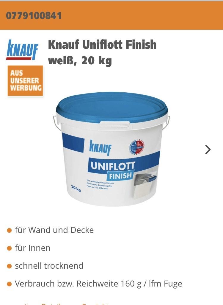 Knauf Uniflott Finishweiß, 20 kg