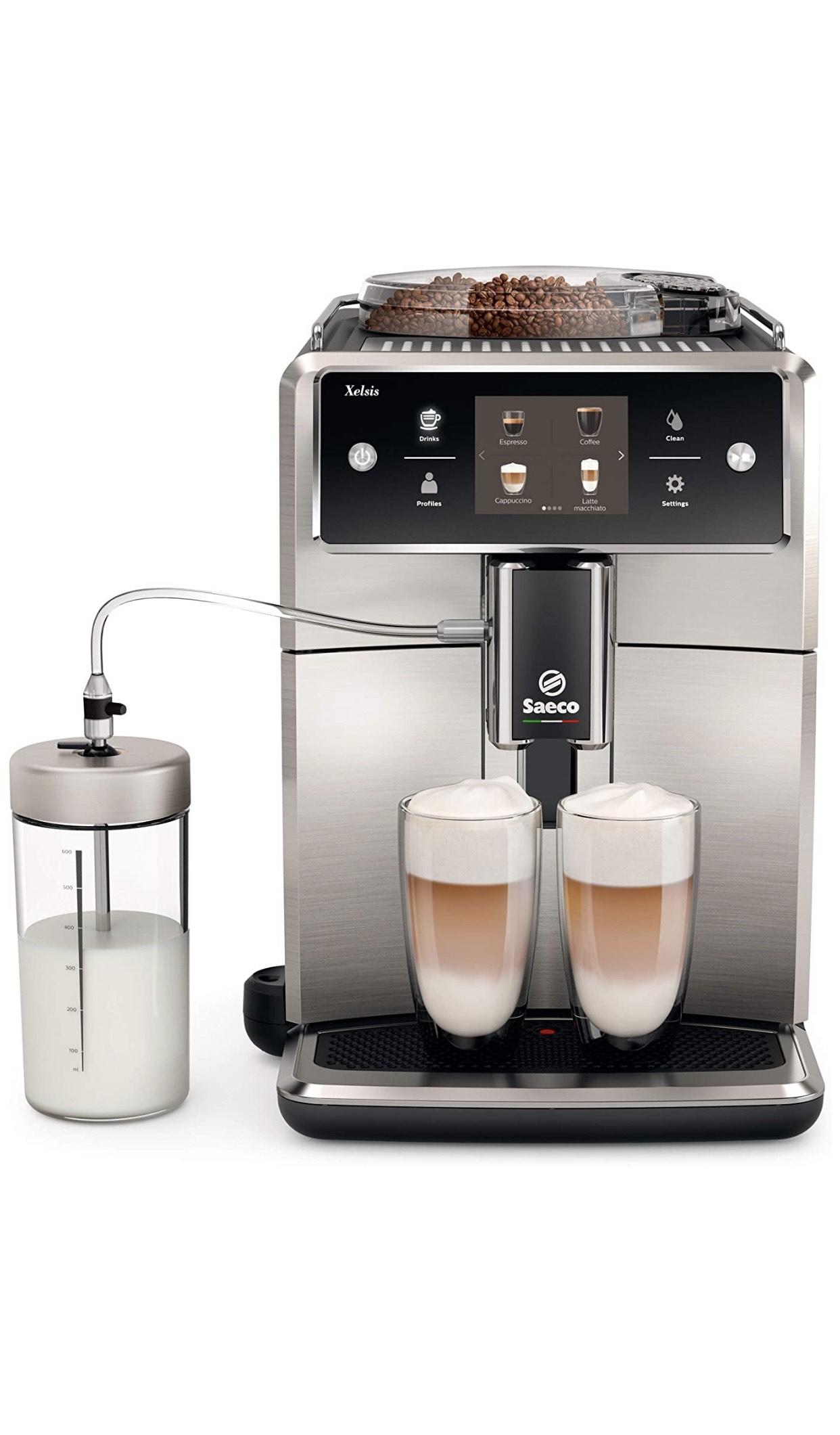 Saeco Xelsis SM7683/10 Kaffeevollautomat 15bar Schwarz/Edelstahl