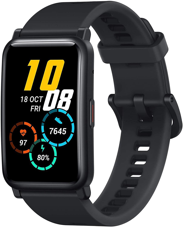 HONOR Watch ES Smartwatch (42mm AMOLED-Display, Herzfrequenzmessung, 50 m wasserdicht, SpO2) Schwarz [Amazon]