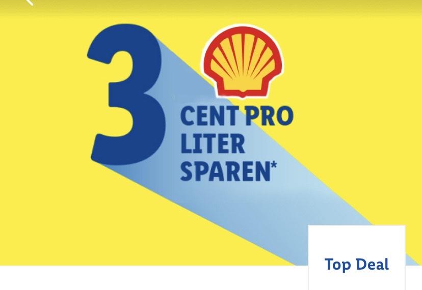 Lidl Plus App 3 Cent sparen bei Shell Tankstelle