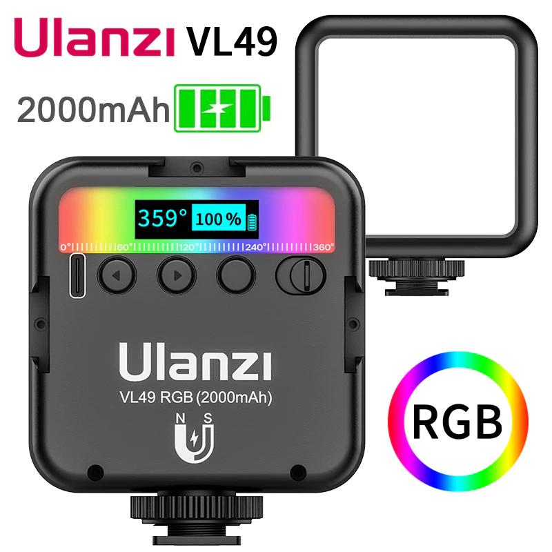 [AliExpress] 2x Ulanzi VL49 RGB Video-Lampen 2500-9000K CRI 95+ 2000mAh mit Versand aus Polen