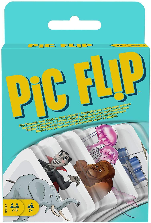 [Prime] Mattel Games - GKD70 Pic Flip Kartenspiel und Gesellschaftsspiel, geeignet für 2 - 6 Spieler, Kartenspiele ab 7 Jahren