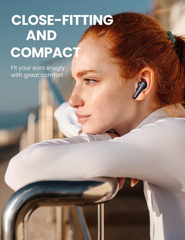 UGREEN HiTune T1 Wireless In-Ear 4 Mikrofone Deep Bass BT 5.0 Noise Cancelling, 24Std, USB-C, Twin/Mono