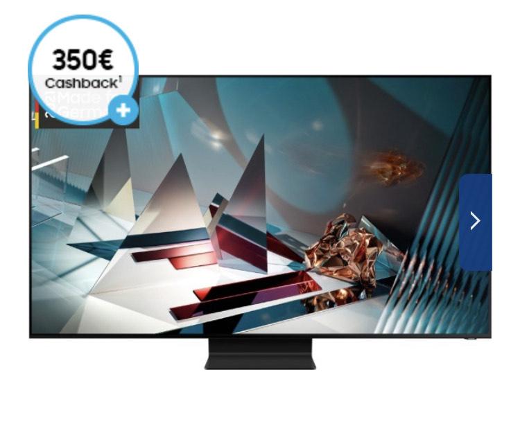 "Samsung QLED (GQ65Q800TGT) 163 cm (65"") -350 € Cashback"