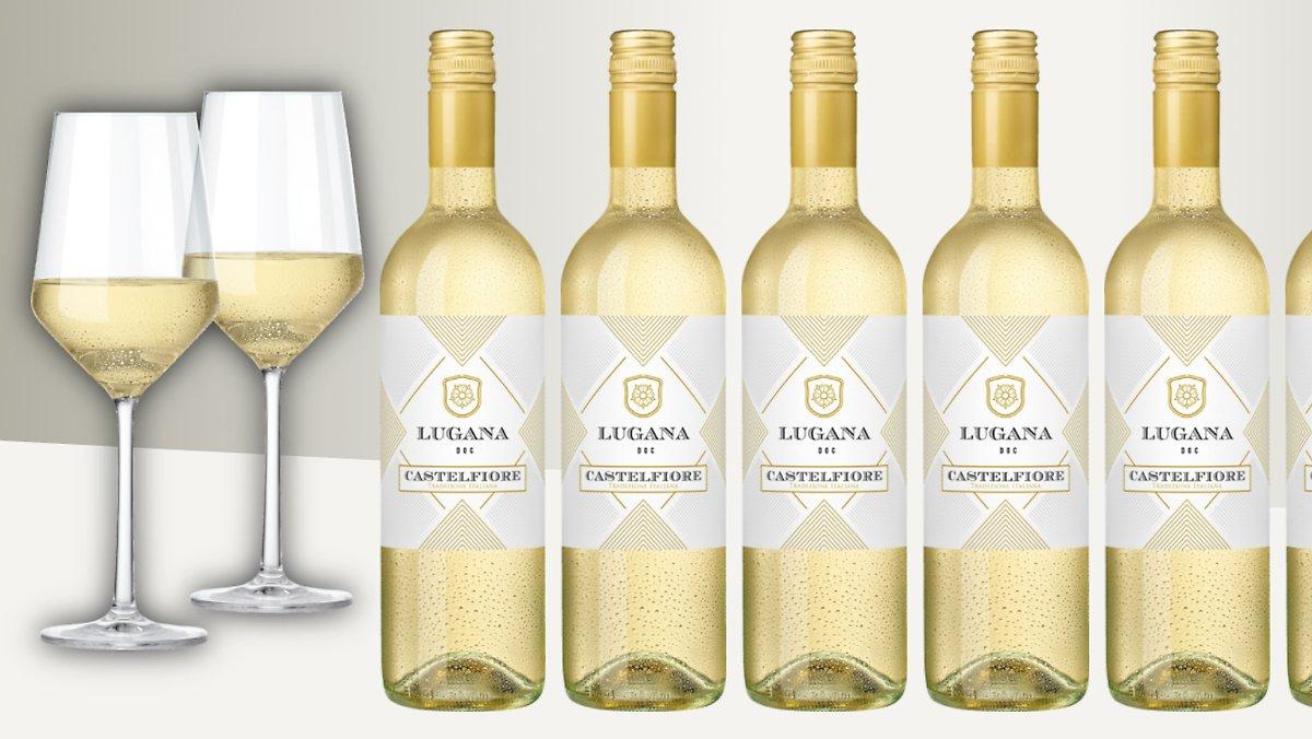 50% auf 8er-Weißwein-Paket (Lugana) + 2x Gläser