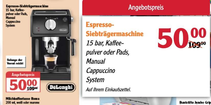 DeLonghi Espresso Siebträgermaschine ECP 31-21