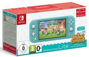 GDD Gaming: z.B. Nintendo Switch Lite türkis/koralle inkl. Animal Crossing: New Horizons & 3 Monate Online-Mitgliedschaft für 212€