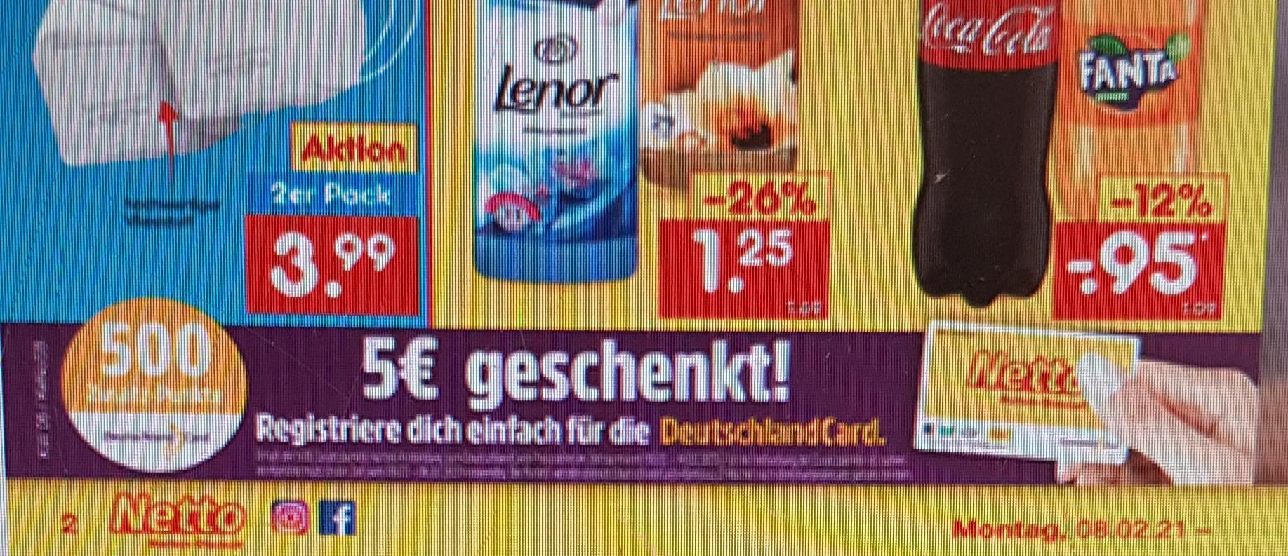 500 Zusatzpunkte für Neuanmeldung bei Deutschlandcard bei Netto