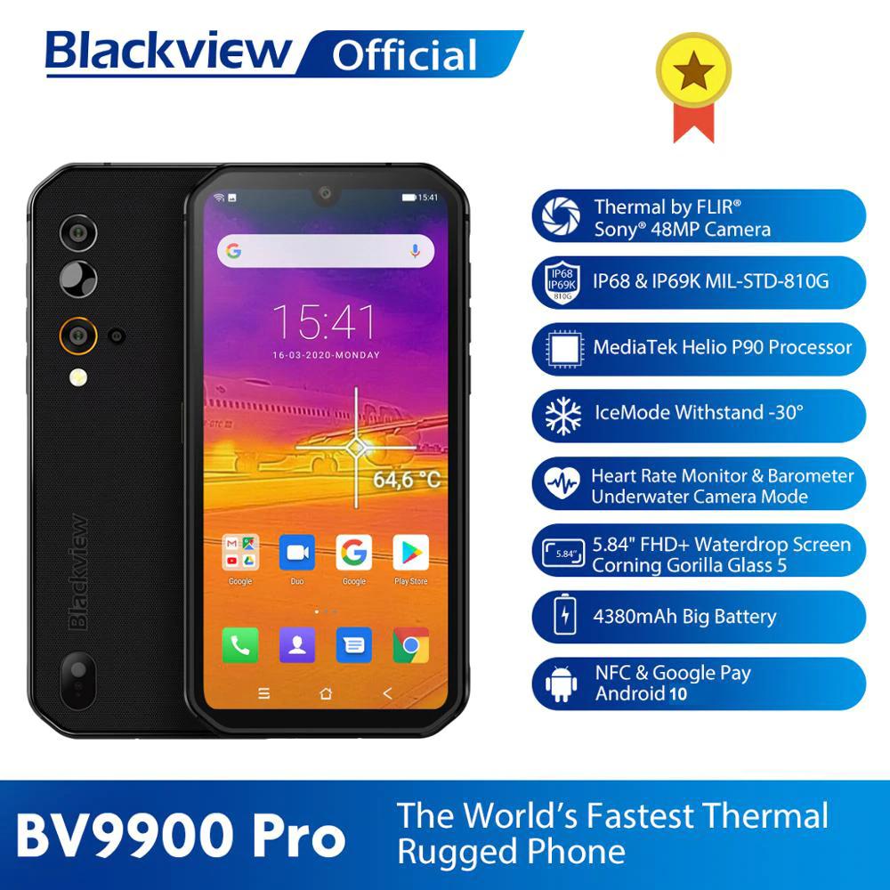 Blackview BV9900 Pro Rugged Phone mit Wärmebildkamera Helio P90 Octa Core 8GB 128GB IP68